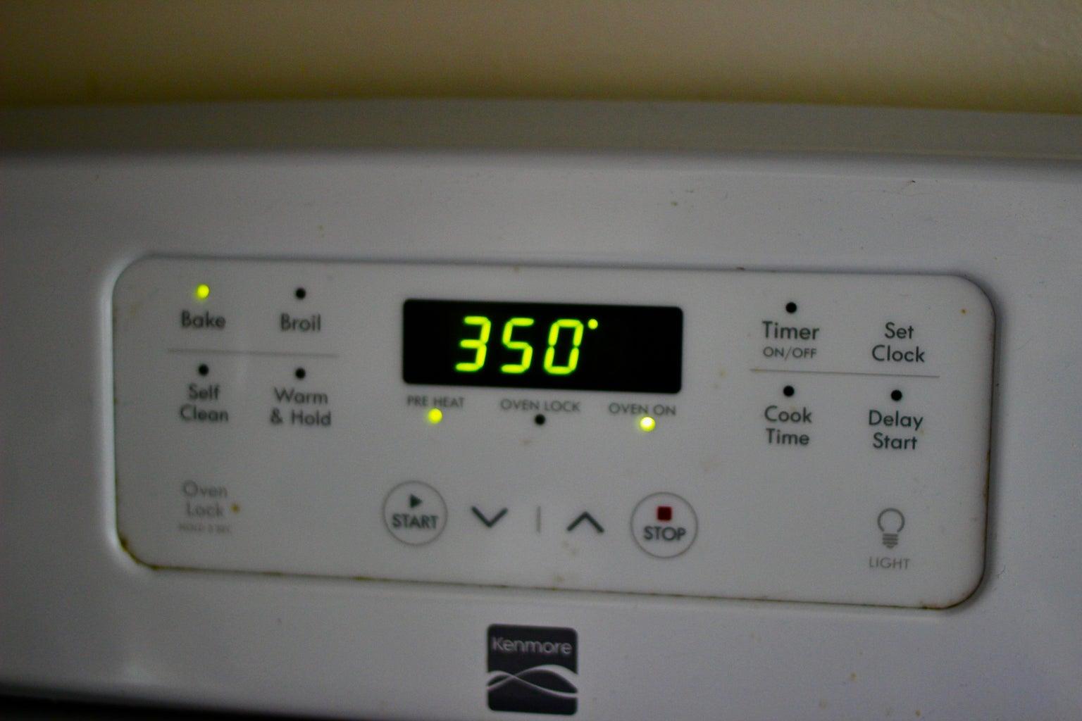 Preheat Oven to 350F