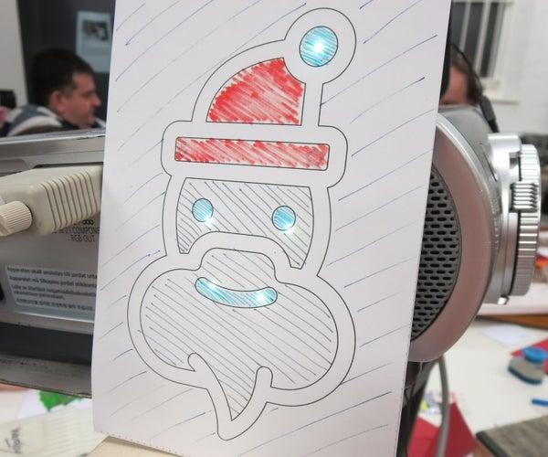 Making Chibitronics Electronic Christmas Cards With LED's