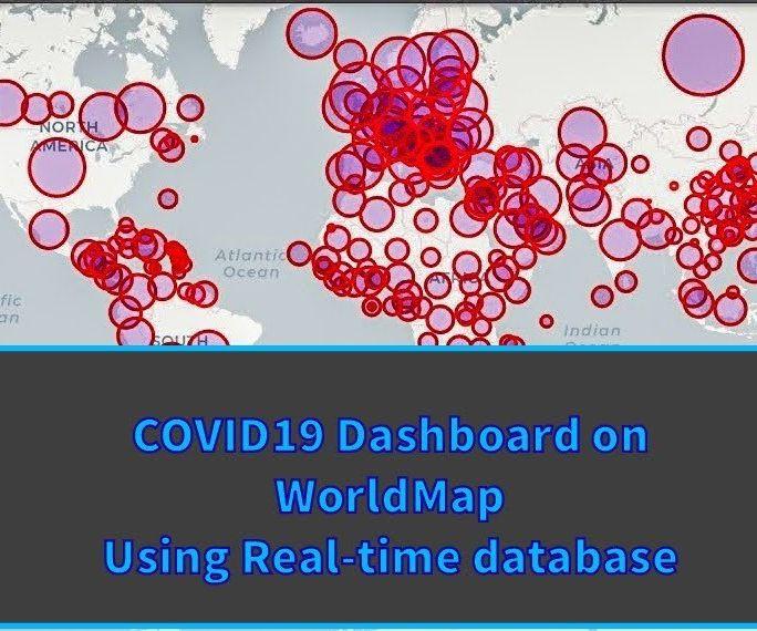 COVID19 Dashboard on World Map(using Python)