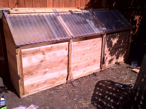 Chicken-Powered Three-Stage Compost Bin