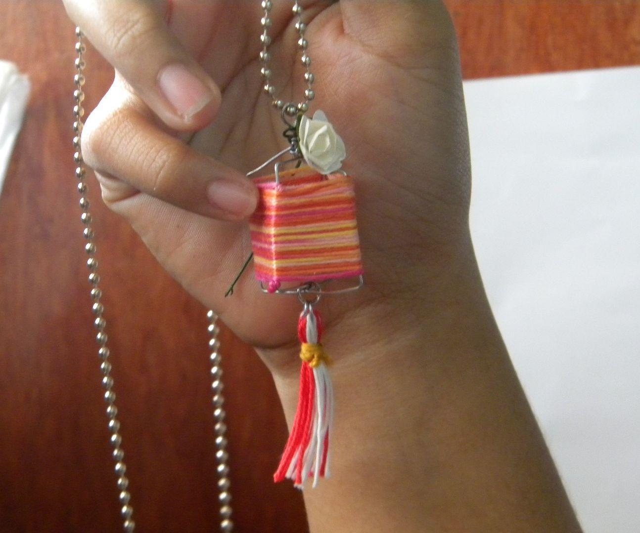 mini string lantern necklace