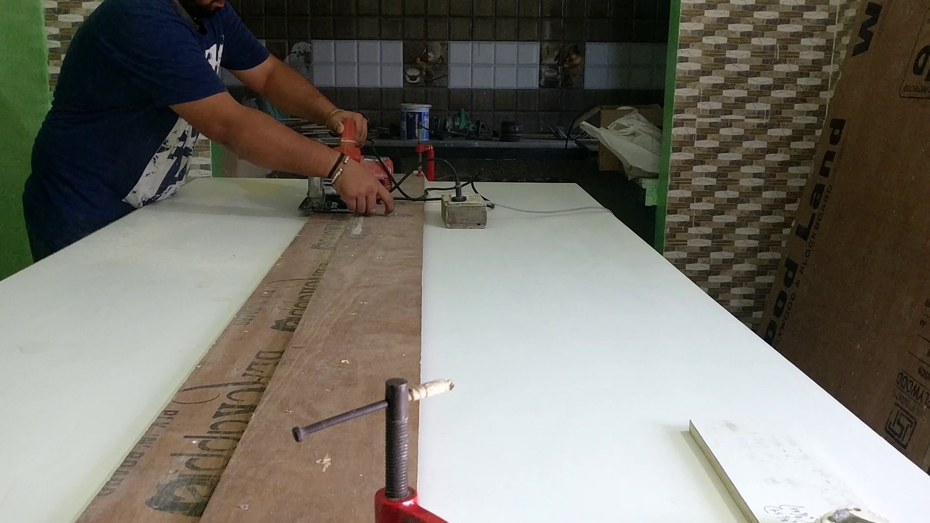 Making the Cabinet Doors.