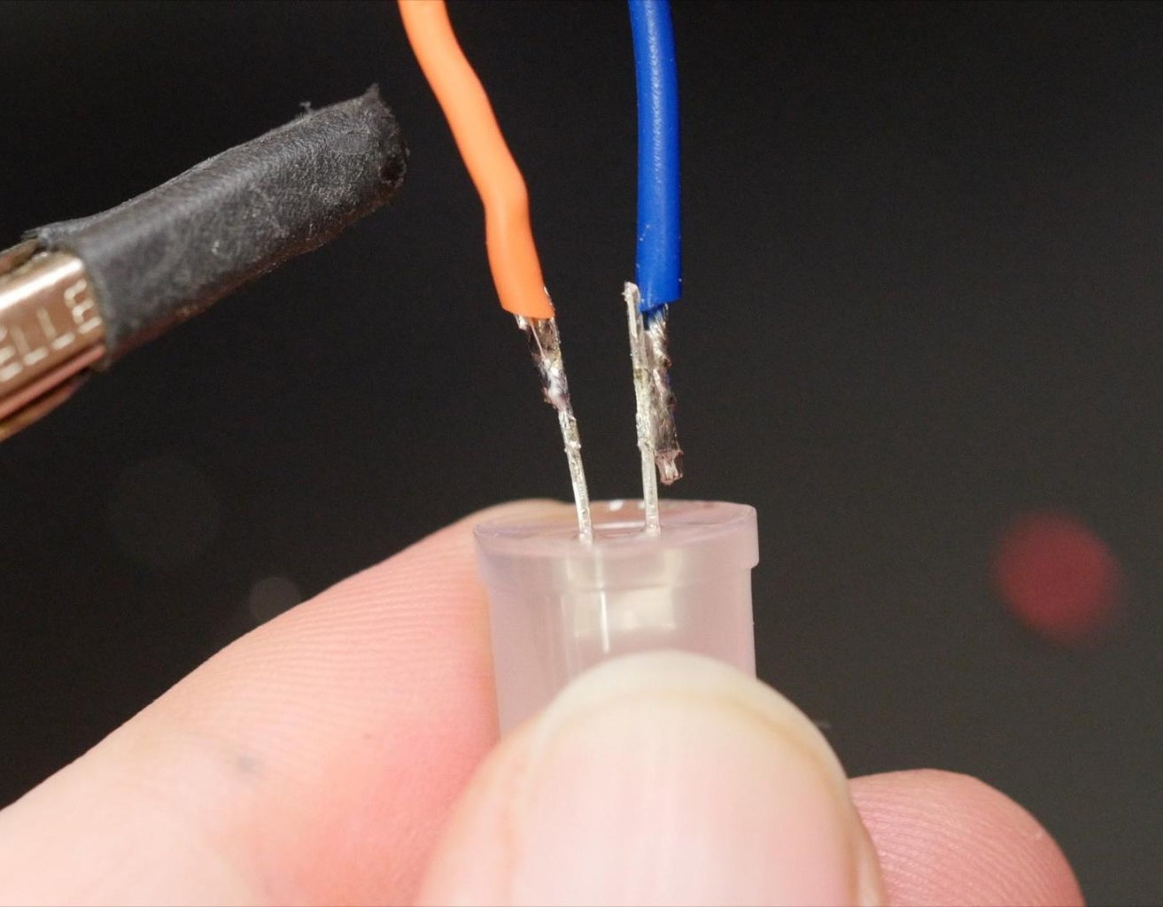 Soldering the Single LED Circuit