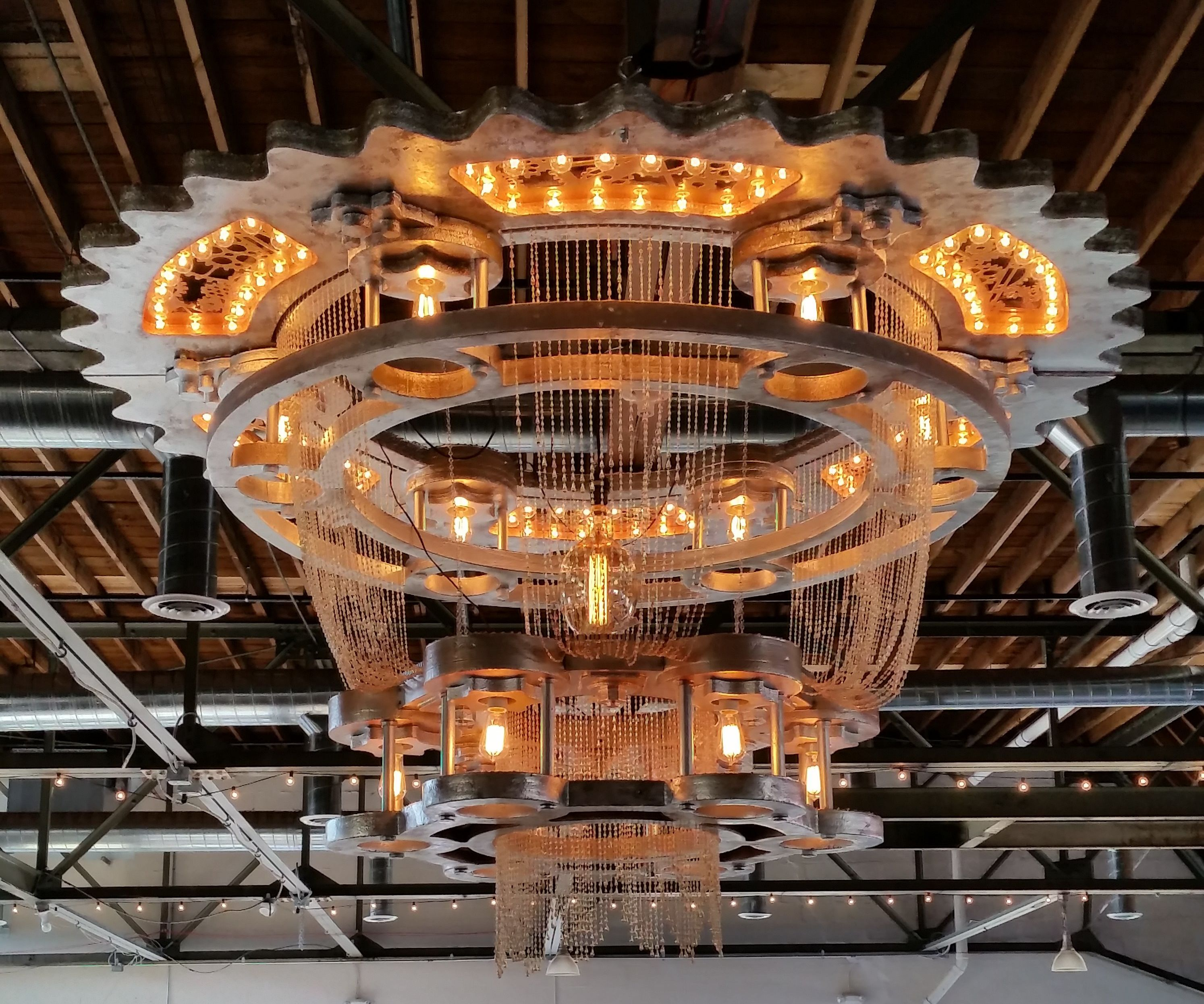 The Packard Chandelier - I made it at TECHSHOP!
