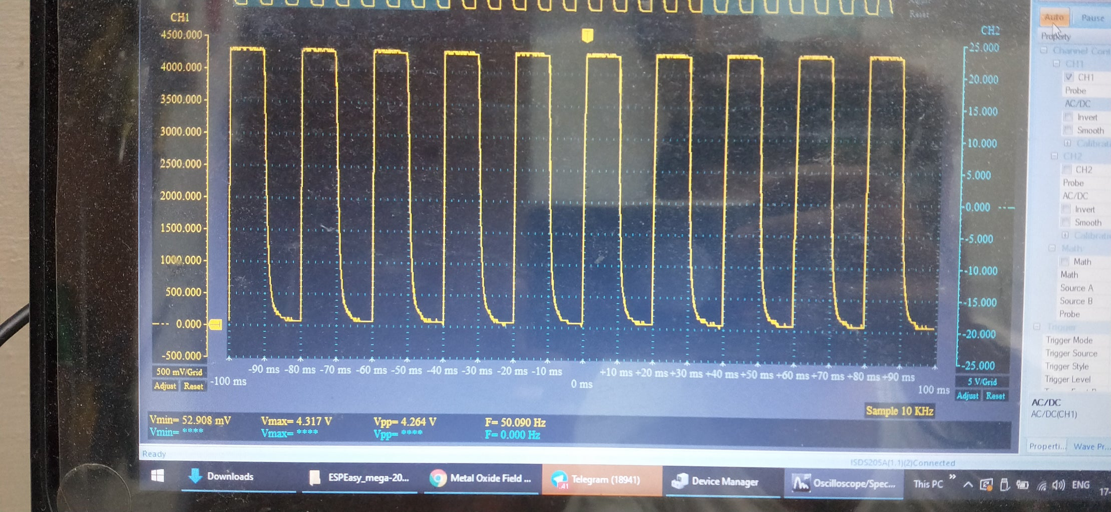 Oscilloscoping