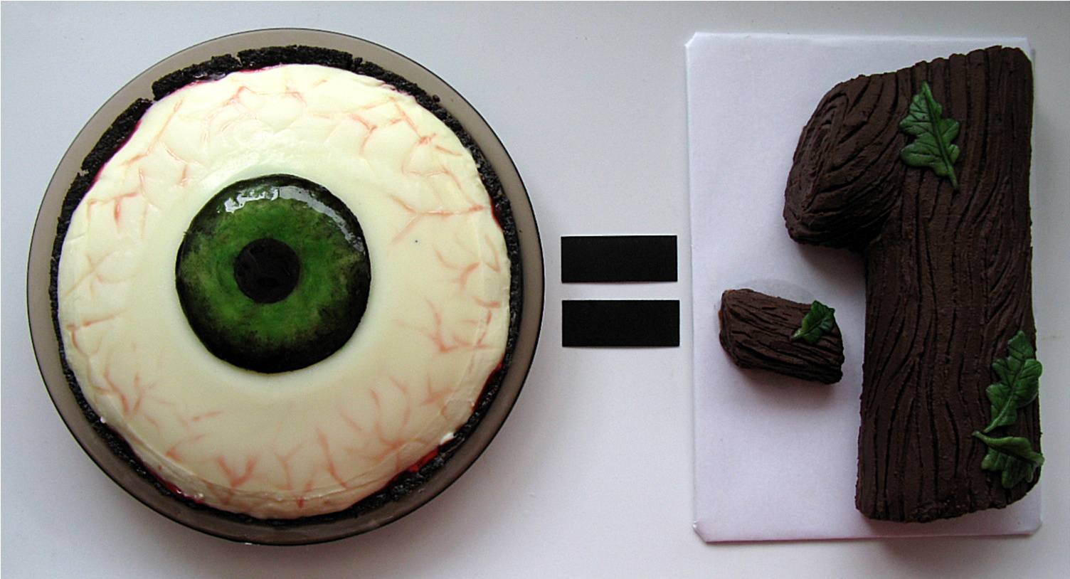 i pi = log(-1): EYE PIE (Chocolate Cherry Almond Panna Cotta Pie) = LOG NEGATIVE ONE (Chocolate Almond Log)