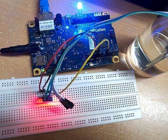 Moisture Sensor With Intel Galileo