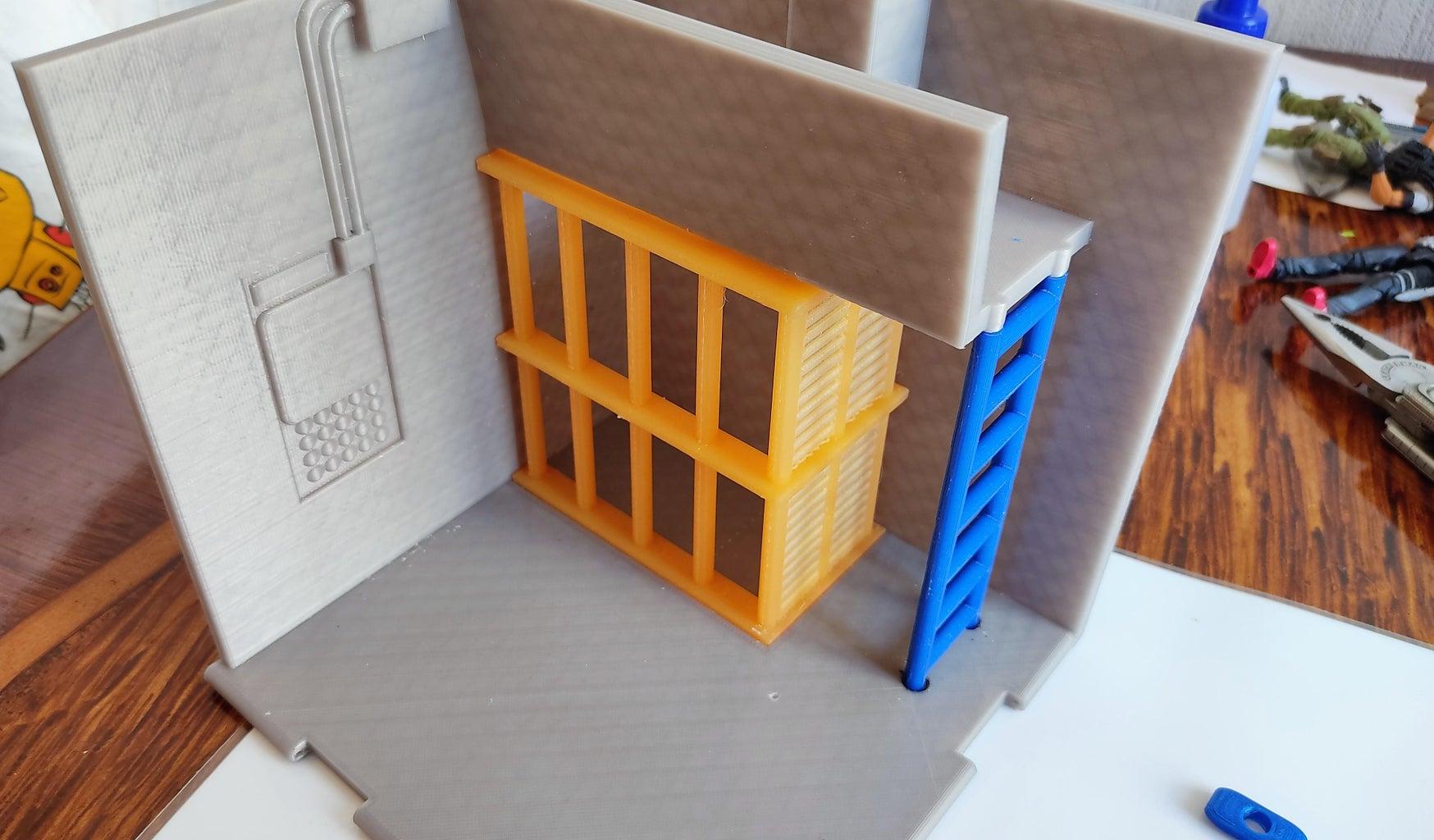 建筑平台1:笼式楼梯