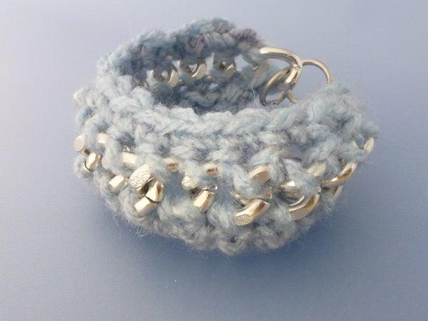 Basic Crochet Yarn and Chain Bracelet Tutorial