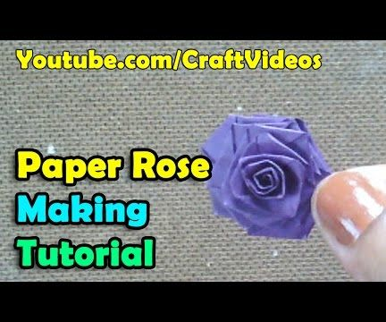 How to make a paper rose flowers