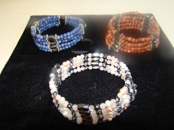 How to Make a Hematite (Magnetic) Bead Bracelet/Necklace