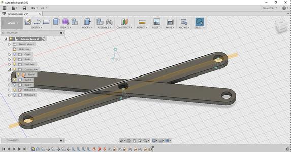 Scissor Mechanism: Designing the Pins