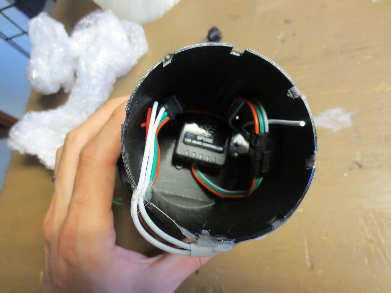 Assemble LED Controlled Into Base & Wrap LEDS