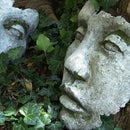 Huge DIY Concrete Face Garden Sculpture