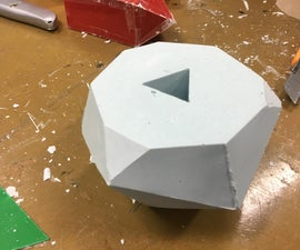 How to Make an Icosahedron Shaped Plaster Paperweight