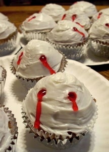 Easy Vampire Bite Cupcakes