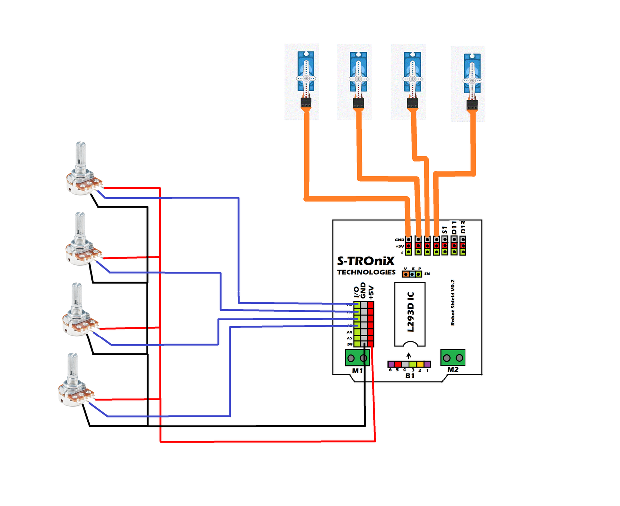 Connections for Robot Shield