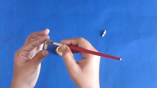 Color the Beads and All Other Pieces With Acrylic Golden Color