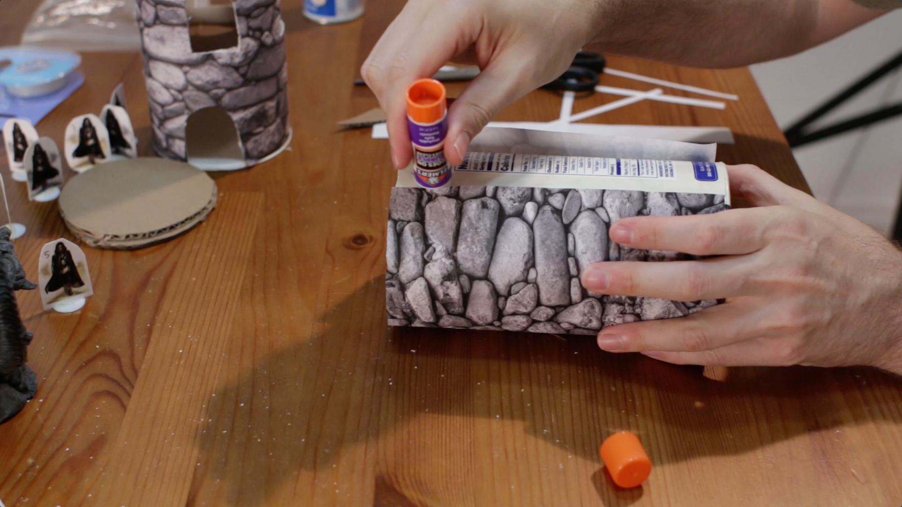Glue, Wrap, Tape