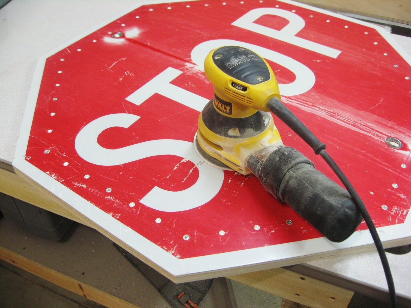 Clean Up and Prepare Sign
