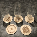 Drink Coasters With a Tolkien or Zelda Theme