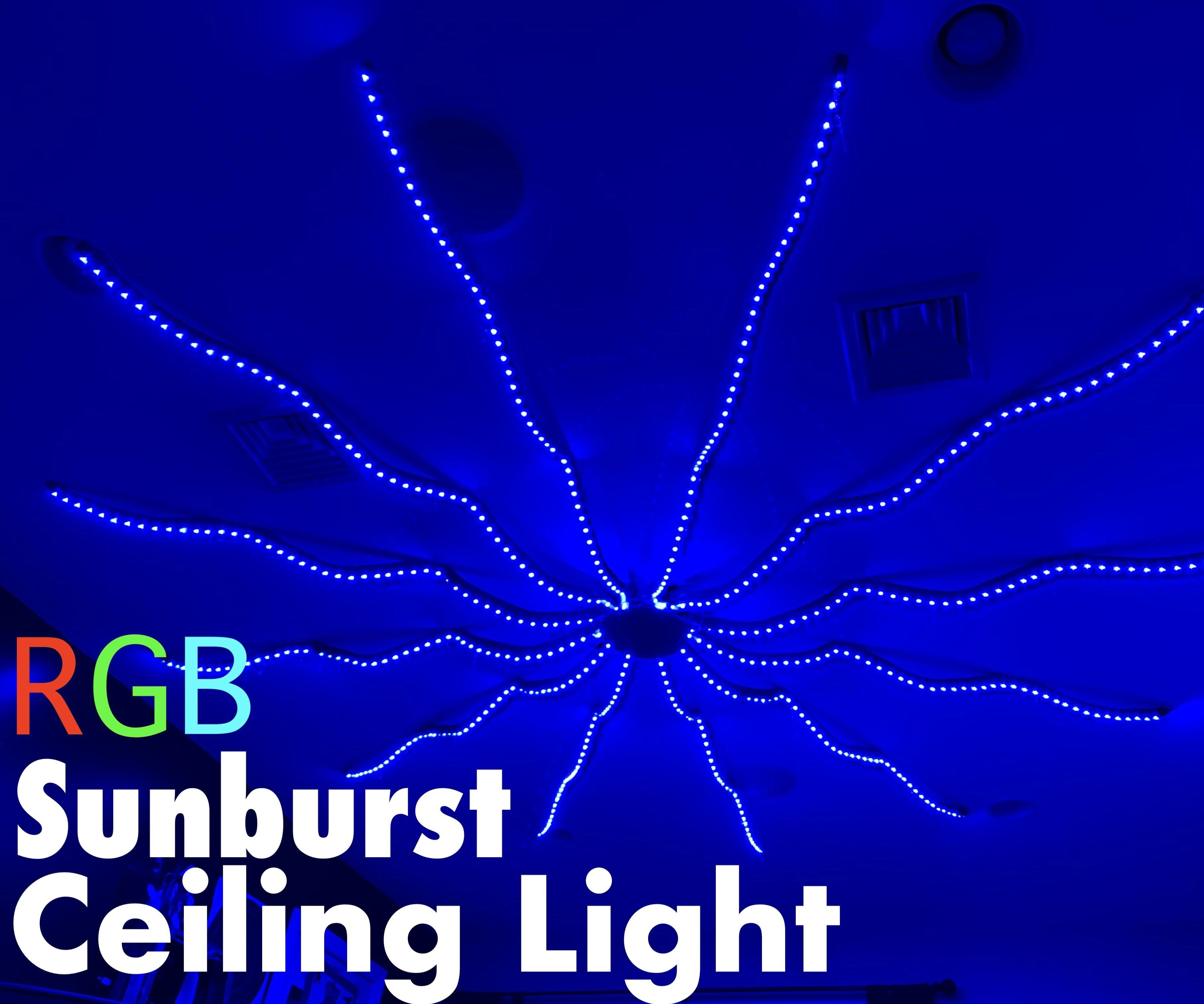 RGB Sunburst Ceiling Light