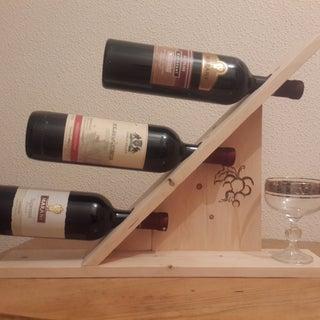 Wine Rack for 3 Bottles Out of Pallet Wood