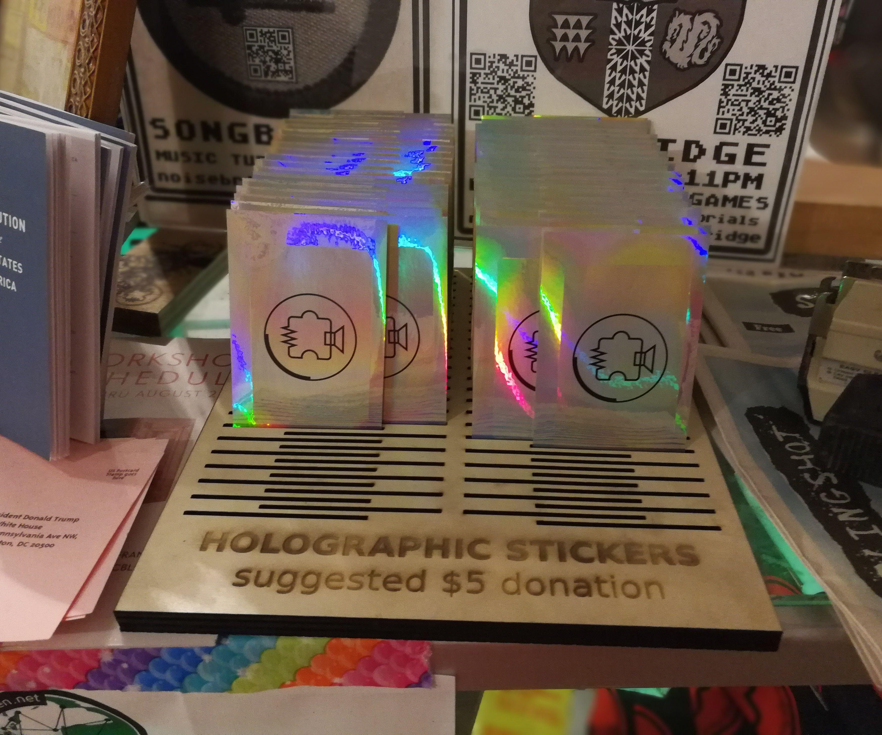 Laser Cut Sticker Stand