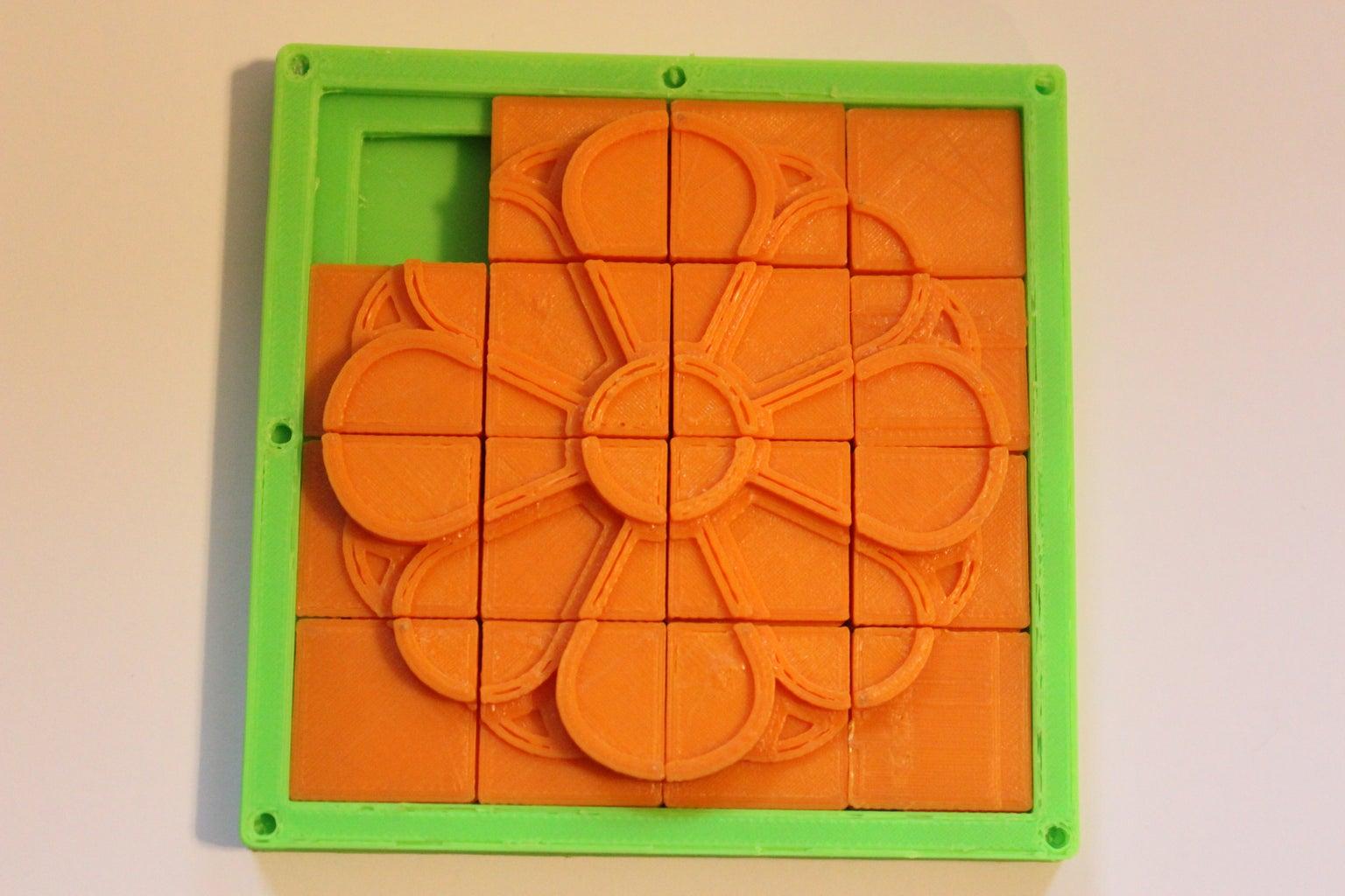 Customize a 3-Dimensional Sliding Tile Puzzle