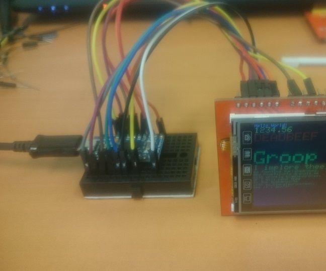"Connect 2.4"" TFT Shield to Arduino Leonardo Micro"
