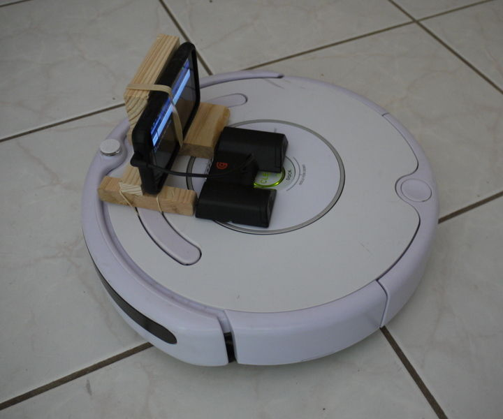 First-person WiFi driving of Roombas and other infrared RC vehicles