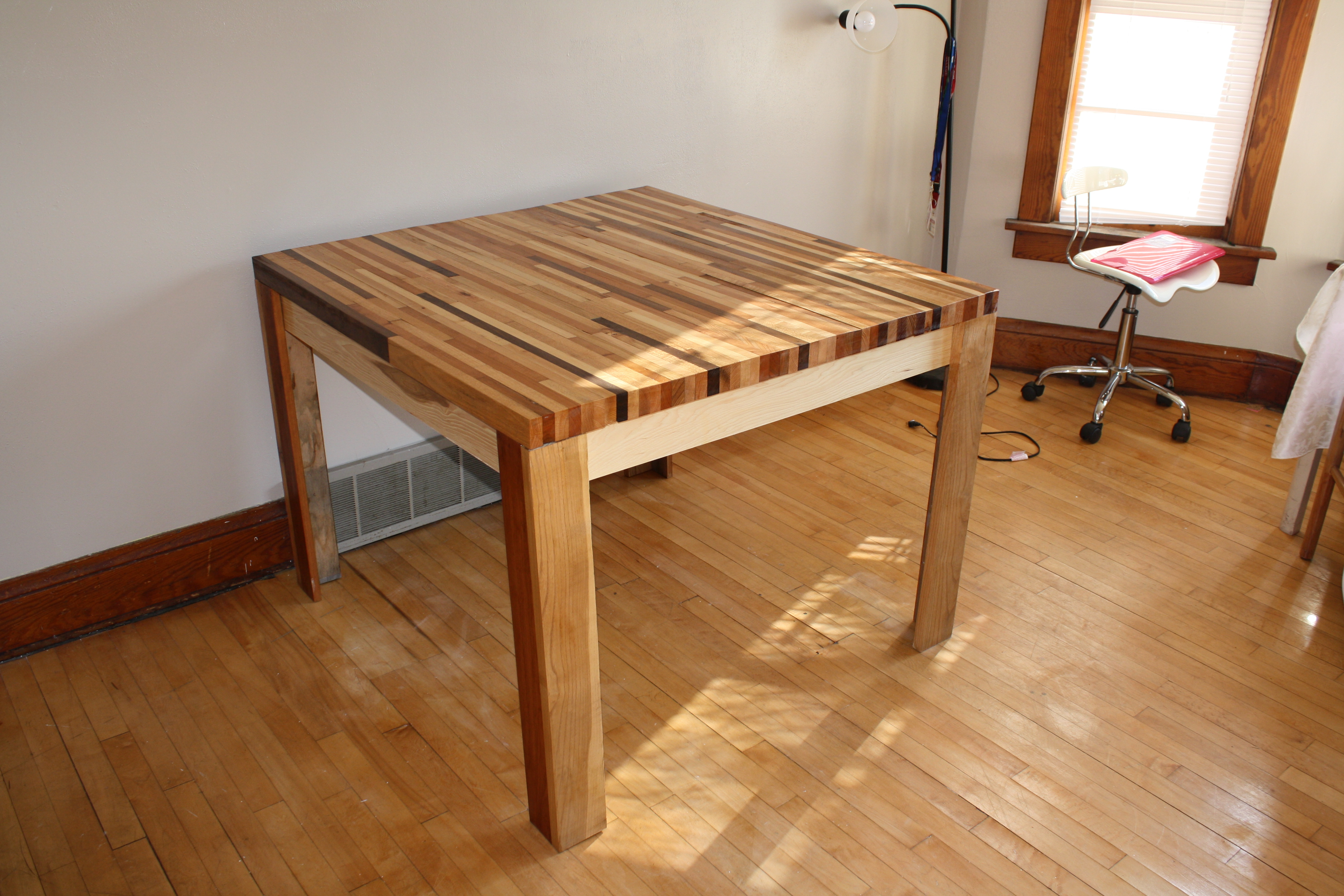Butcher Block Hardwood Table 5 Steps With Pictures Instructables