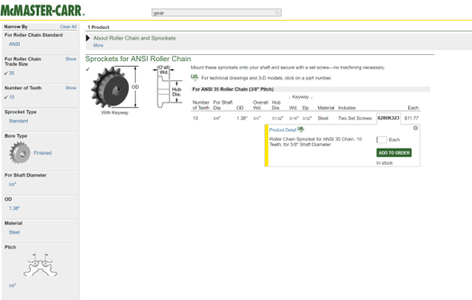 Designing the Small Sprocket in Solidworks
