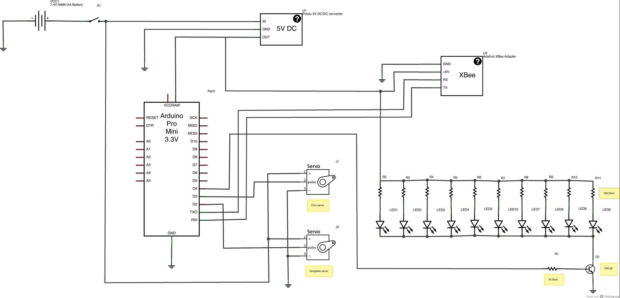 Electronics- Wireless Helmet Schematic and Code