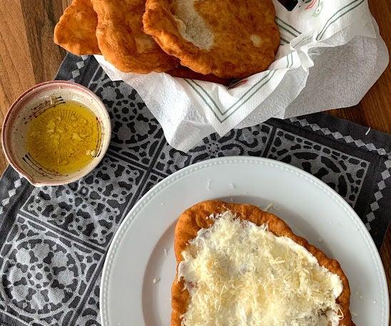 Lángos - Deep Fried Flatbread