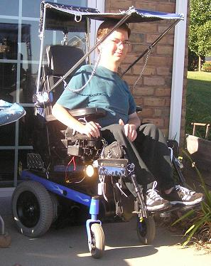 Convertible Roof for Hot-Rod Wheelchair