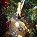 Steampunk Birdhouse Ornament
