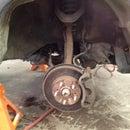 Changing brakes on a Honda CRV