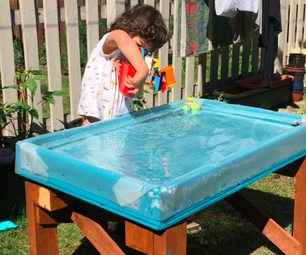 Quick & Cheap Outdoor Water Tray for Kids