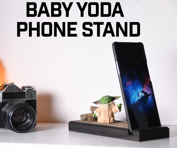 Baby Yoda Phone Stand (from the Mandalorian)
