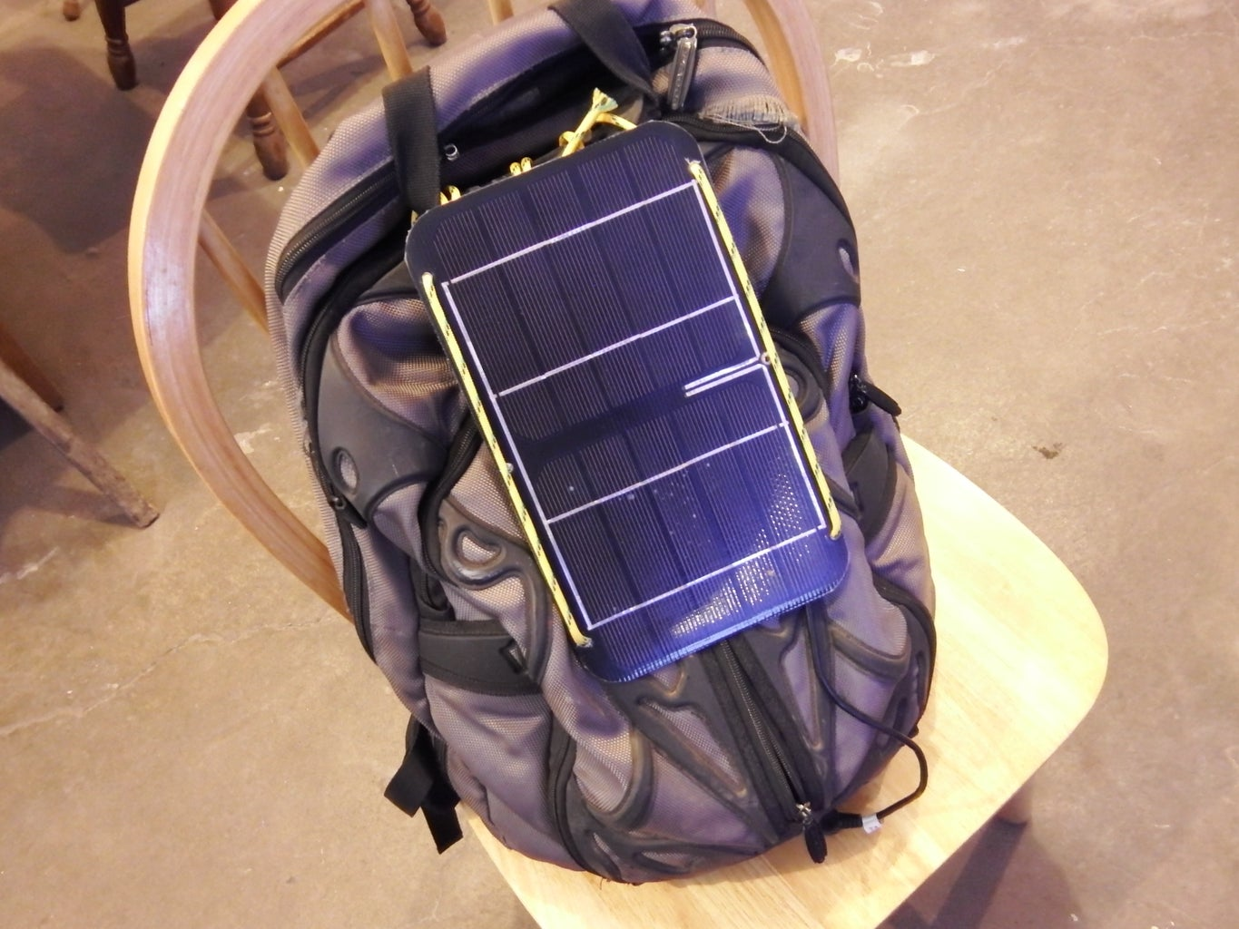 Attach the Solar Panel to the Backpack