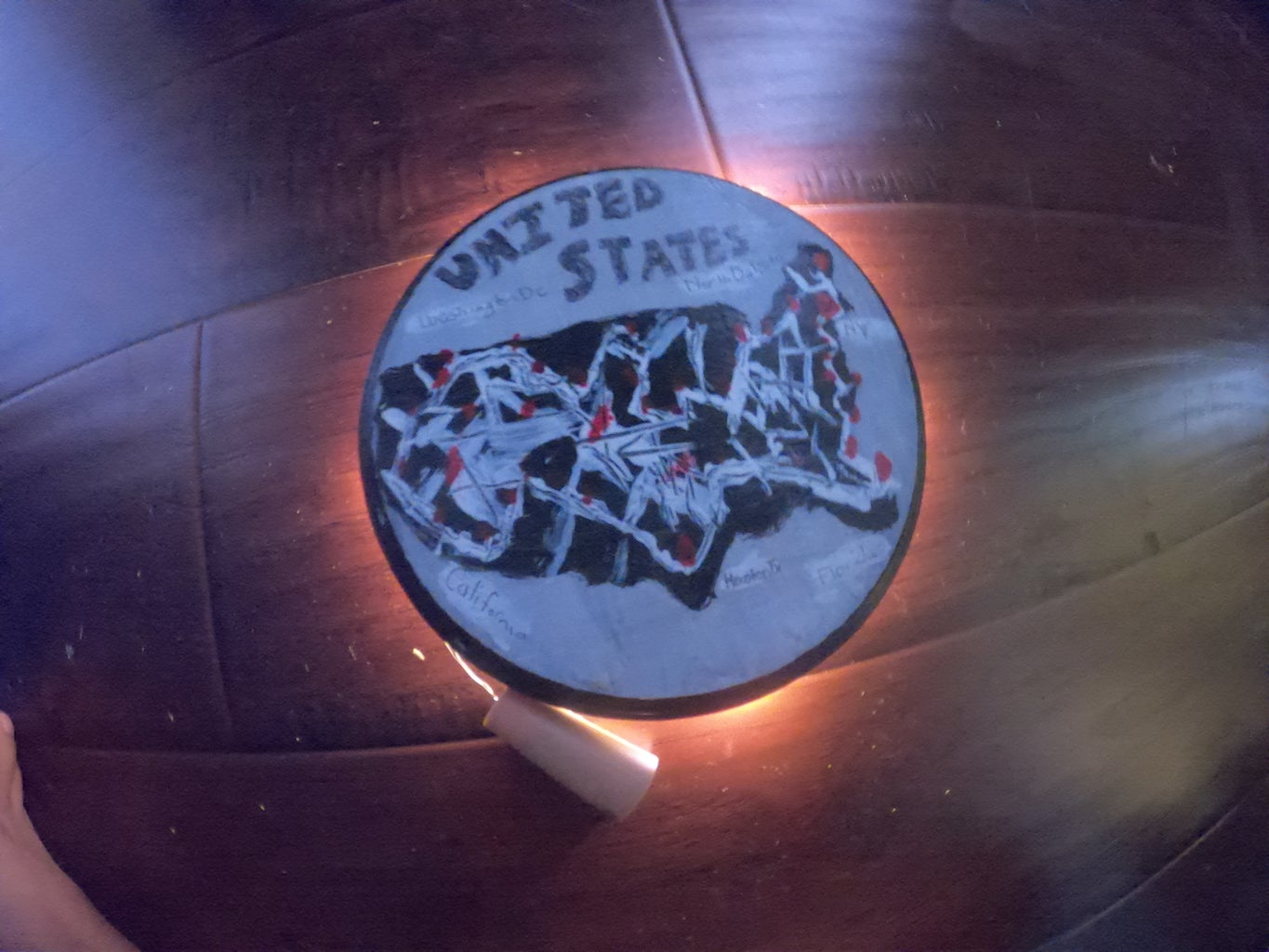 Making Your Own Custom LED  Country Map on the Wall or Or a Coaster!
