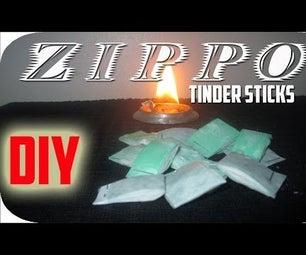 Homemade Zippo Tinder Sticks