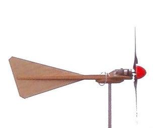 Portable 12 Volt 17 Watt Wind Generator With Automatic Furling