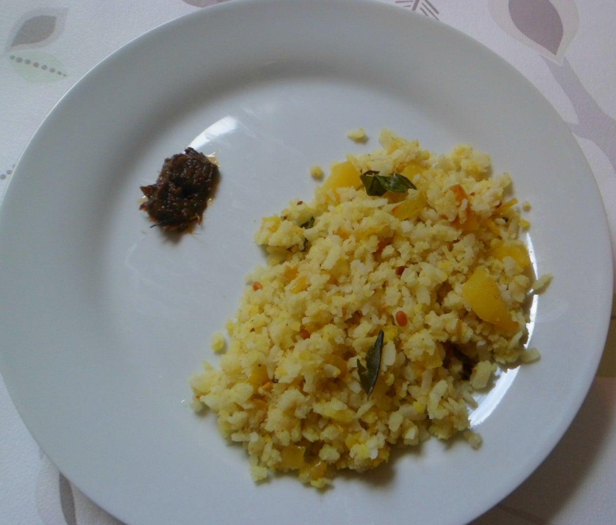 Poha(flattened Rice) Upma