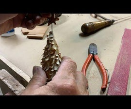 Rustic Hand Carved Christmas Tree Decoration