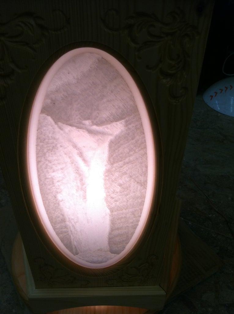 Lithopane Lamp With Rotating Shade