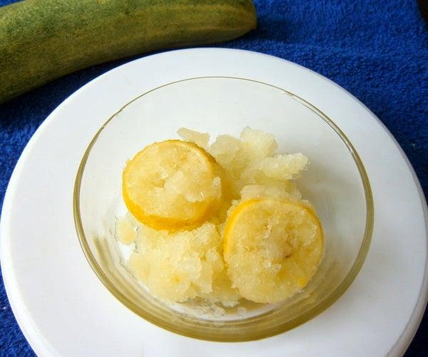 Cucumber-Lemon Granita
