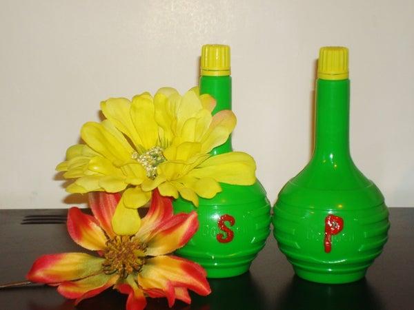 Reuse Bottles, Make Salt and Pepper Shakers