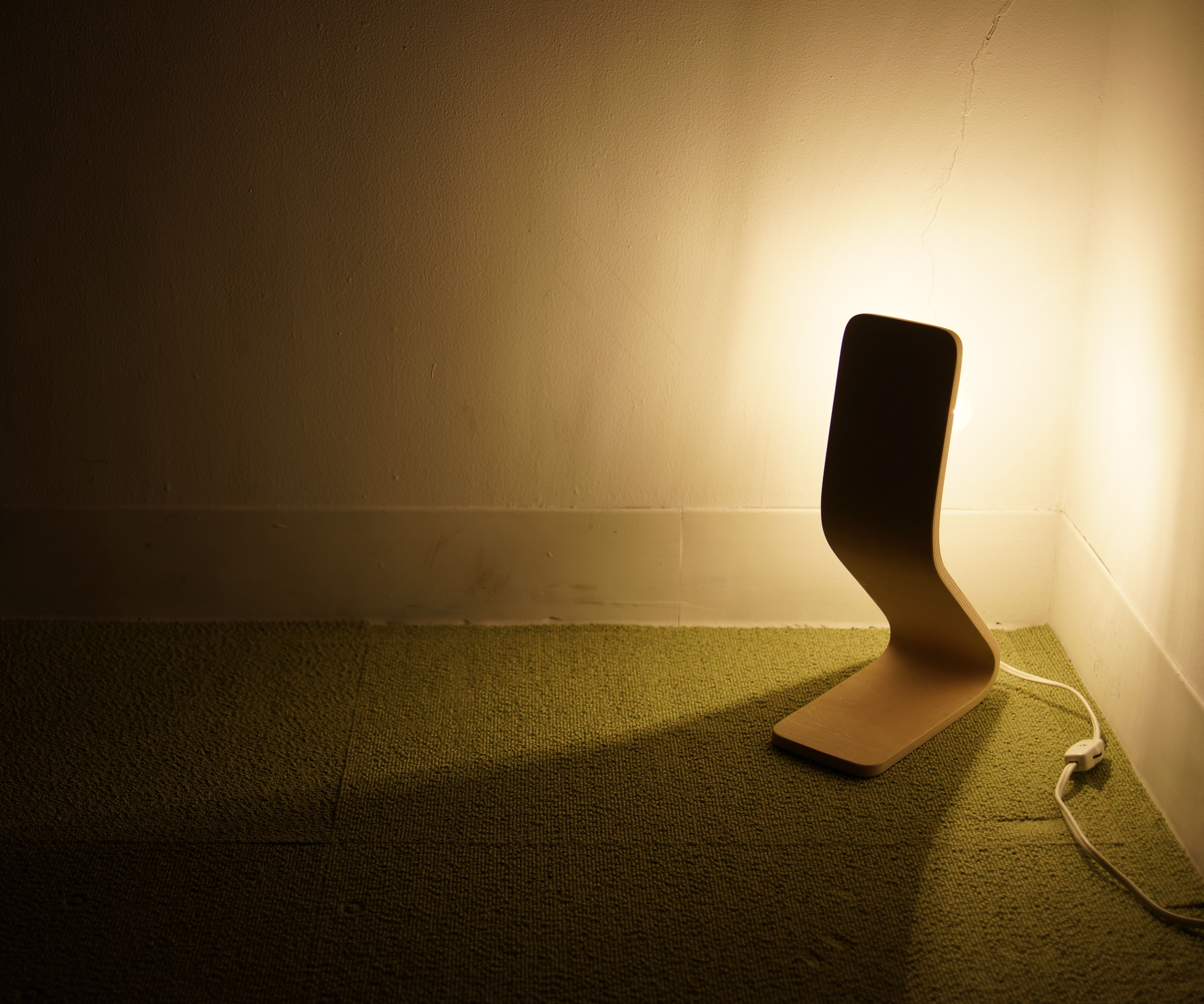 Bent Wood Lamp With 3D Printed Tool